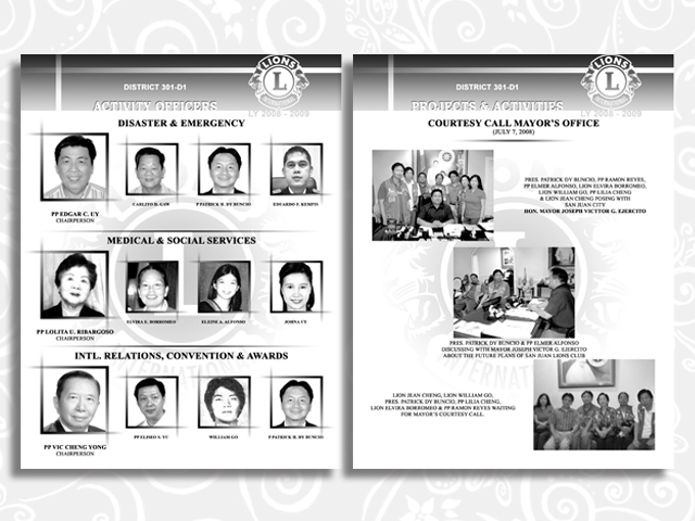 souvenir program brochure designs the art designs of lady